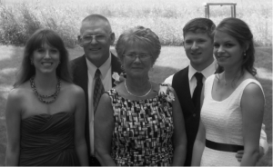 Ed and Janice Starkey with their daughter, Melissa (left), son, Kaiser and his wife, Kaitlyn